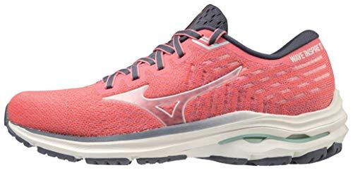 Mizuno Women's Wave Inspire 17 Running Shoe, Red-White, 8