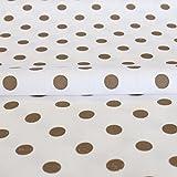 Hans-Textil-Shop Stoff Meterware Punkte 7 mm Grau auf Weiß