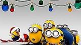CQDSQN Papel pintado Personaje de animación de dibujos animados de Navidad luces de colores Pintura ...