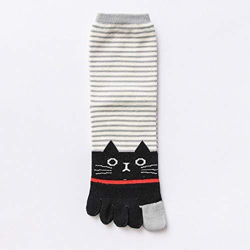 Dasongff Damen Zehensocken Five Fingers Socken, Damen Socken aus Baumwolle Witzige Socken Karikatur Tier Socken Niedliche Tiere Socken Bunt Muster Socken