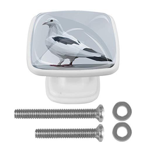 Juego de 4 tiradores de cristal de 1,18 pulgadas para cajones de cocina, pomos de armario y palomas
