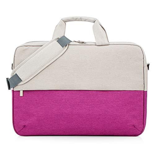 hongbanlemp Portátil Bolso 15,6 Pulgadas portátil y Tablet Hombro Bolso del Negocio del Ordenador portátil portátil Bolsa maletín Hombres Mujeres Portátil Maletín (Color : Purple)