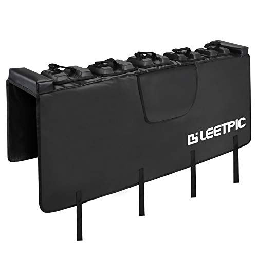 LEETPIC Tailgate Bike Pads for Mid-Size Truck 54' Tailgate with Secure Bike Frame Straps Carry up to Five Bikes (Reinforced)