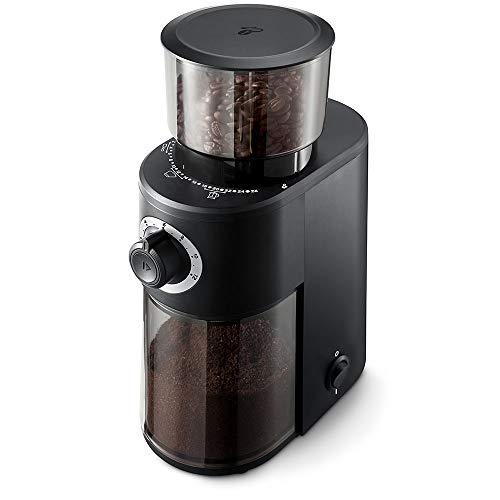 Tchibo Elektrische Kaffeemühle (Edelstahl-Kegelmahlwerk, 26 Mahlgradeinstellungen, 160 Watt, schwarz)