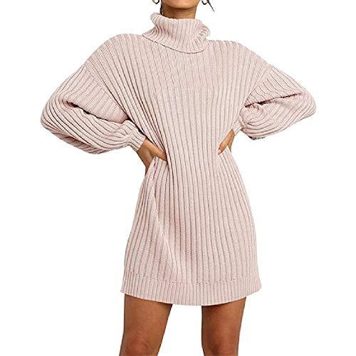 N\P Otoño Invierno De Cuello Alto De Las Mujeres Suéteres De Manga Larga Casual Crudo Suéter De Punto Puentes De Jersey De Las Mujeres