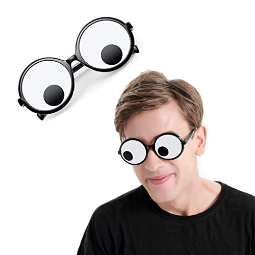 Delphinus Googly Eyes Glasses, Funny Googly Eyes Goggles Shaking Party Glasses Toys Novelty Shades Funny Costume Accessories for Party Favor