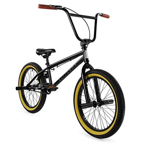 "Elite 20"" BMX Bicycle The Stealth Freestyle Bike New 2020 (Black Gum)"