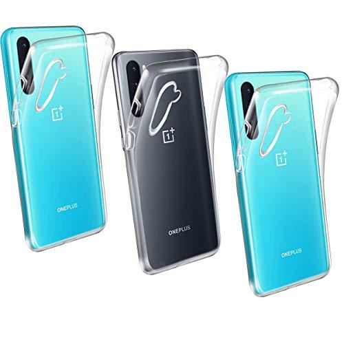 HYMY 3X Hülle für OnePlus Nord 5G - Transparent Schutzhülle TPU Handytasche Tasche Durchsichtig Klar Silikon Hülle für OnePlus Nord 5G (6.44