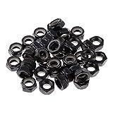 junmo shop 40 piezas resistentes para monopatín Longboard, ruedas de repuesto para ejes de herramientas, color negro