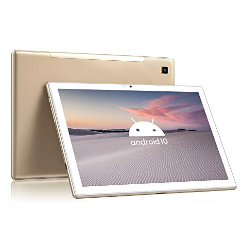 Tablet 10.1 Pulgadas 4G LTE+5G WiFi Android 10 Blackview Tab8,  4GB RAM+64GB ROM (TF 128GB),  Octa- Core,  Batería 6580mAh,  Tableta con Cámara 13MP+5MP,  1920*1200,  Dual SIM/Face ID/GPS/OTG/Bluetooth- Oro