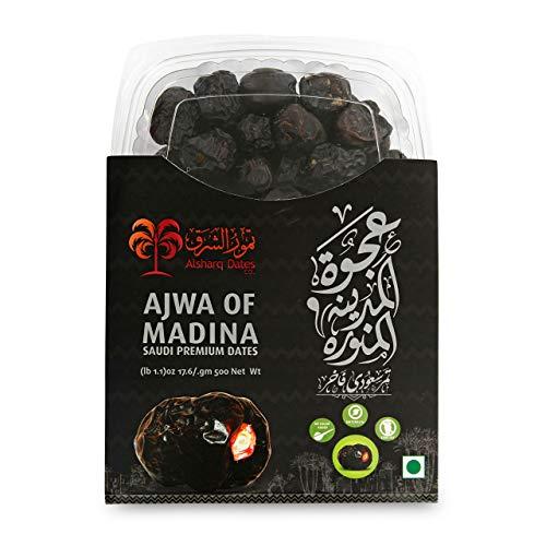 KoRo - Dattes Ajwa 500 g - Fruits secs non sulfurés sans sucre ajouté - Alternative aux sucreries
