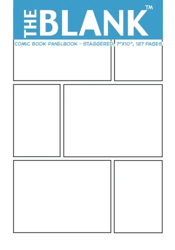 "The Blank Comic Book Panelbook - Staggered, 7""x10"", 127 Pages"