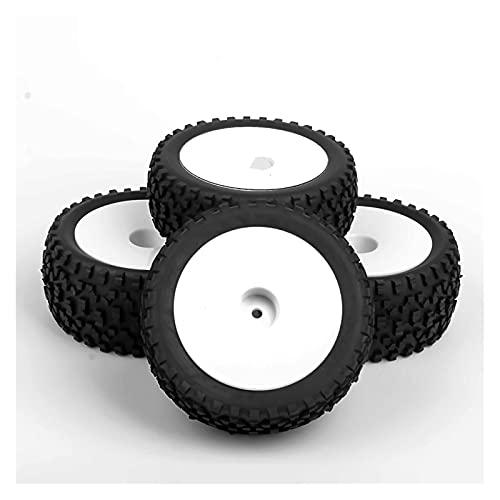 UJETML (H) Neumáticos RC Crawler 4 PCS 12 mm Hex 1/8 RC Llantas de Espuma Llantas RIONES 105mm Set para HPI Car Neumáticos RC Slash 4x4 Neumáticos