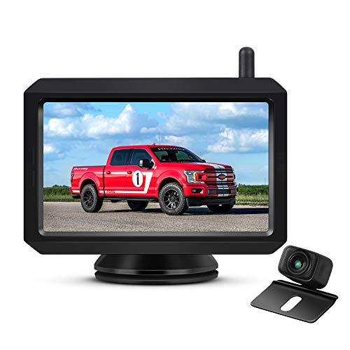 AUTO-VOX W7 Wireless Backup Camera Kit, 5 Inch Monitor with Stable...