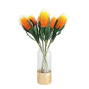 Skyseen 1Pcs Artificial Protea Cynaroides Silk King Protea Flower for Floral Arrangements