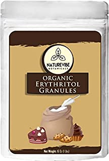 Naturevibe Botanicals Erythritol Sweetener Granules, 1lbs | Non-GMO and Gluten Free