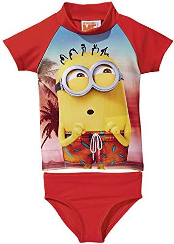 Golden Lutz® Kinder Jungen UV-Schutz-Anzug für Wasser und Strand, Zweiteilig (Minions, Gr. 110/116)