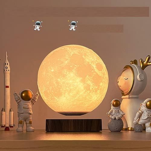 KOSIEJINN LED Lunar Night Light, dimmbare 3D-Druck-Mondlampe, schwebbar und drehbar, mit 3 Farbmodi, Innendekorationsgeschenken für Kinder, Liebhaber,Freunde und Geburtstagsfeiergeschenke (6 Zoll)