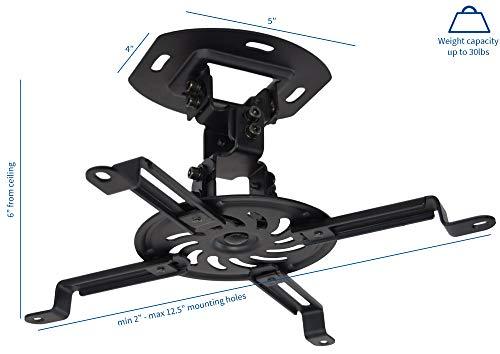 VIVO Universal Adjustable Ceiling Projector, Projection Mount Extending Arms, Black, MOUNT-VP01B Photo #5