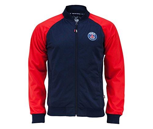 Paris Saint Germain Jungen Trainingsjacke, mit Reißverschluss, offizielle Kollektion für 4-Jährige blau