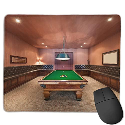 Dekoratives Gaming-Mauspad,Herrenhaus Billardtisch Billard Lifestyle,Bürocomputer-Mausmatte mit rutschfester Gummibasis
