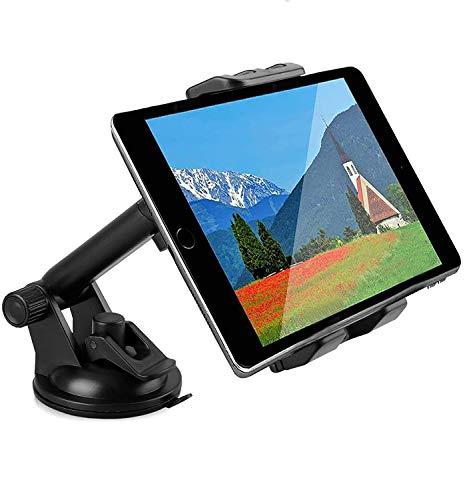 Linkstyle 2 in 1 Supporto per Tablet per Auto, Supporto Universale per Telefono da Auto con Supporto a Ventosa con Ventosa Compatibile con Samsung Galaxy iPad Mini iPad Air iPad PRO iPhone (4 -12 )