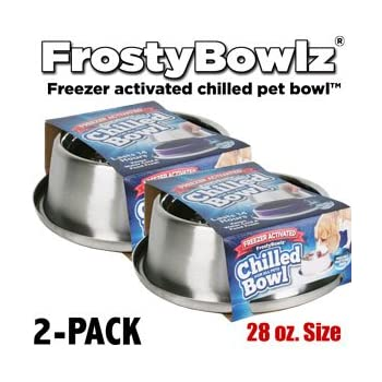 Frostybowlz 28 Oz. Chilled Pet Bowl 2-Pack