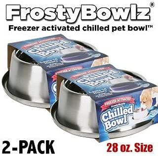 Frostybowlz 28 Oz. Chilled Pet Bowl 2-Pack