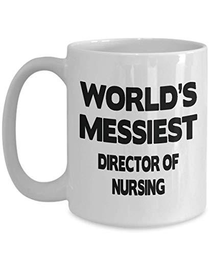 Mejor director de regalos de enfermería - Director de regalos de enfermería a granel - Jefe / presidente de taza de enfermería para hombres y mujeres - Taza de café / té de cerámica