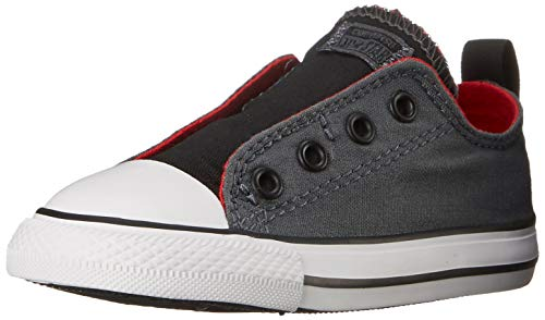 Converse Kids Boys' Chuck Taylor All Star Simple Slip (Infant/Toddler), Thunder/Casino/Black, 9 M