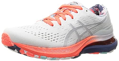 ASICS Gel-Kayano 28, Zapatillas de Running Mujer, White Thunder Blue, 38 EU
