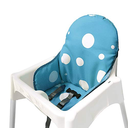 IKEA Antilop Highchair Seat Covers & Cushion by AT, Washable Foldable Baby Highchair Cover IKEA Childs Chair Insert Mat Cushion,ONLY for IKEA ANTILOP HIGHCHAIR (Blue)