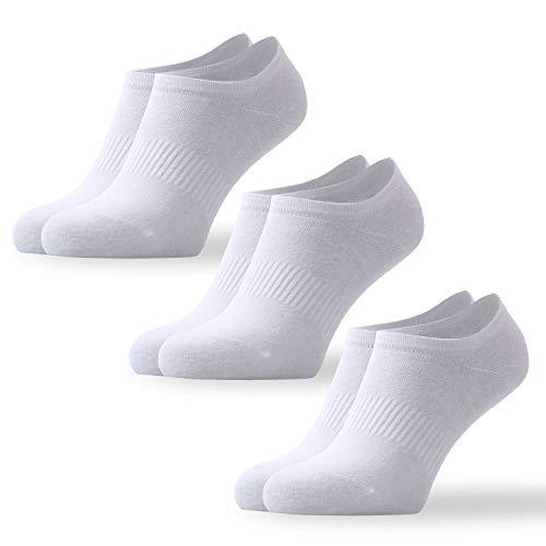 Tiger's Milk 3 Paar Unisex Invisible Sneaker Socken Damen & Herren Füßlinge Weiß aus gekämmter Baumwolle ohne Naht Größe 39-42