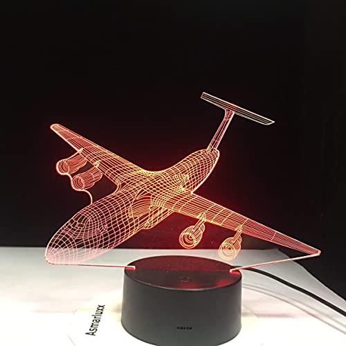 WMYATING Guerra Avión Luchador-Avión Luces de noche Lámpara de mesa Multi Colores Militar Jet Avión con energía Decoración Regalo Con control remoto-1314