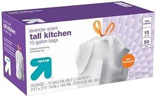 FlexGuard Tall Kitchen Drawstring Trash Bags - Lavender Scent - 13 Gallon - 50ct - up & up White