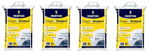 Morton Clean and Protect II Water Softening Pellets, 40-Pound, White, 40 Pound (Fоur Расk)