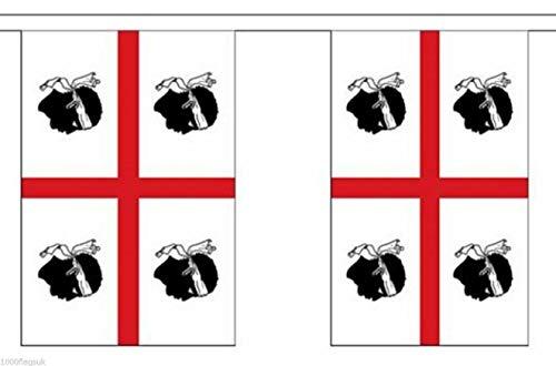Wereld Vlag Winkel Sardinië 6 Meter Bunting 20 Vlaggen