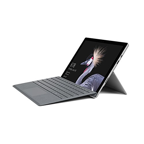 Microsoft Surface Pro 31,24 cm (12,3 Zoll) 2-in-1 Tablet (Intel Core i5, 128GB SSD, 8GB RAM, Win 10 Pro) inkl. Surface Pro Signature Type Cover (Platin Grau)