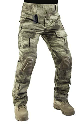 ZAPT Taktische Hose mit Kniepolstern, Airsoft, Camping, Wandern, Jagd, BDU, Ripstop, Kampfhose, 13 Arten, Armee-Camouflage-Uniform, Militärhose (AU Camo, XXL40)