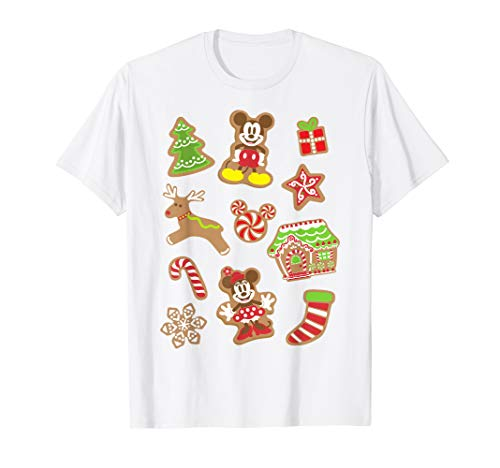 Disney Mickey And Minnie Christmas Gingerbread Cookies T-Shirt