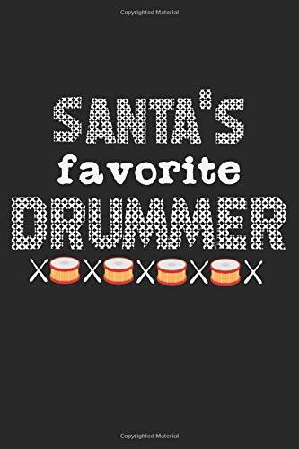 Santa's Favorite Drummer: A5 Notizbuch, 120 Seiten gepunktet, Schlagzeug Schlagzeuger Drummer Drums Weihnachten Weihnachtsmann Christkind Nikolaus Xmas Advent