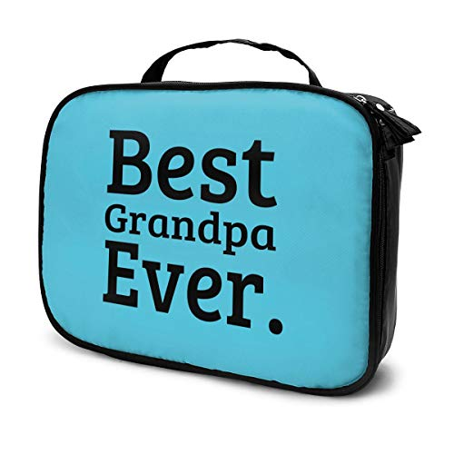 Create Magic Best Grandpa Ever Portable Travel Makeup Cosmetic Bags Organizer Multifunction Case Toiletry Bags for Women - Large Capacity and Adjustable Dividers