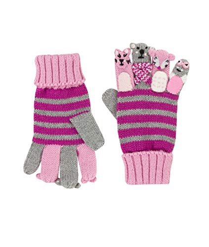 Döll Döll Baby-Mädchen Fingerhandschuhe Strick Handschuhe, Grau (Light Gray Melange 8100), S (Herstellergröße: 3)