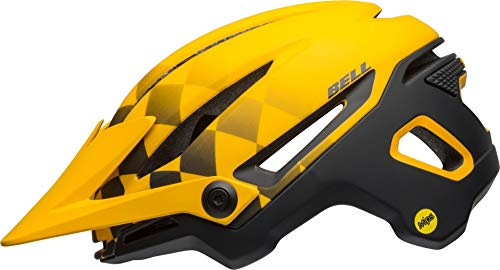 BELL SIXER MIPS Casco de Bicicleta, Unisex-Adultos, Amarillo y Negro, Medium