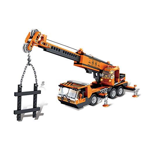PARIO Juego de grúas para camión y grúa, para minifiguras de niños, compatible con Lego