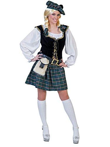 Generique - Kostüm als Schottin für Frauen, Weiß, M