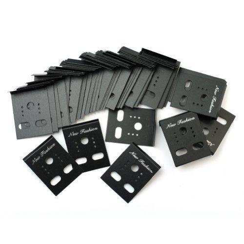 Pinzhi - Confezione da 100 cartoncini per esposizione di orecchini, 30 x 40 mm