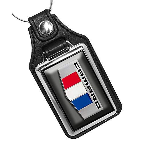 Brotherhood 2016 Compatible with Chevrolet Chevy Camaro Emblem Design Nightfall Gray Keychain Key Holder Key Ring for Men Heavy Duty Car Keyring for Men and Women