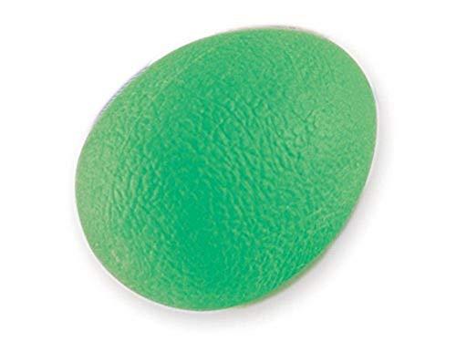 Gima - Pallina Antistress a Forma di Uovo, Esercitatore per Dita, Mano, Polso, per Riabilitazione, Livello Medio, Colore Verde.