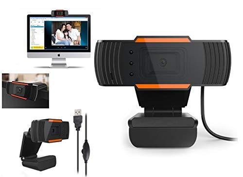 SHENGHUAJIE Videocamera Web HD USB con videoconferenza Mic 4 Skype